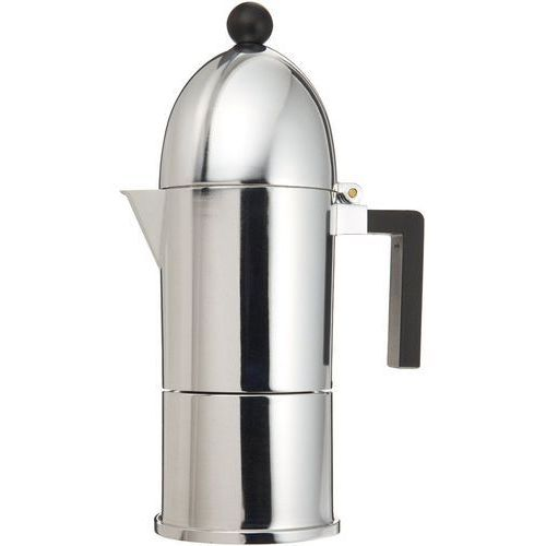 Alessi kawiarka do espresso z alumninium z czarną rączką duża (a9095/6 b) darmowy odbiór w 21 miastach! (8003299920822)
