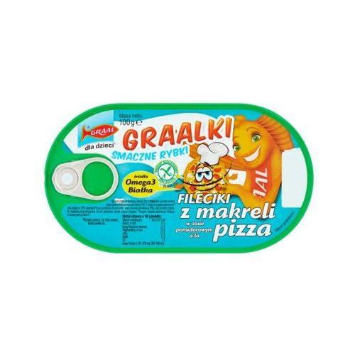 100g graalki fileciki z makreli w sosie pomidorowym a'la pizza dla dzieci marki Graal