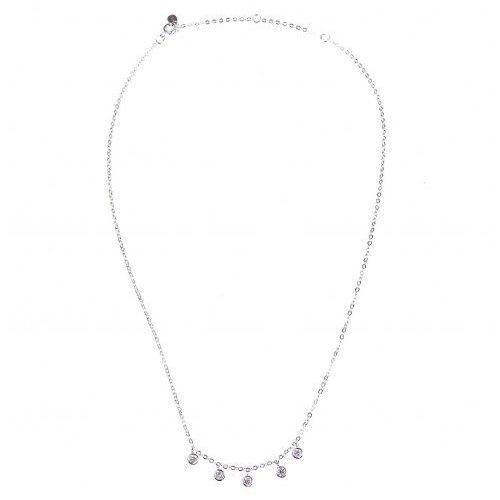 Biżuteria damska ze srebra SAXO Naszyjnik srebrny SŁ.039.01, kolor szary