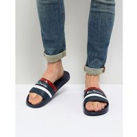 Ben Sherman Stripe Slider Flip Flops - Blue, kolor niebieski