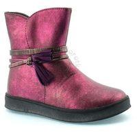 American club Trzewiki zimowe  16093e - różowy ||fioletowy