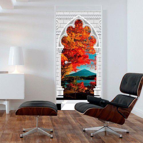 Fototapeta na drzwi - tapeta na drzwi - łuk gotycki i góra fuji marki Artgeist