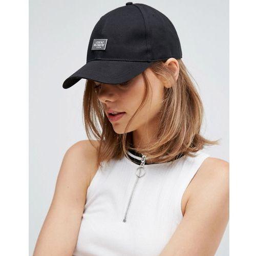 Cheap monday  baseball cap with metal logo detail - black