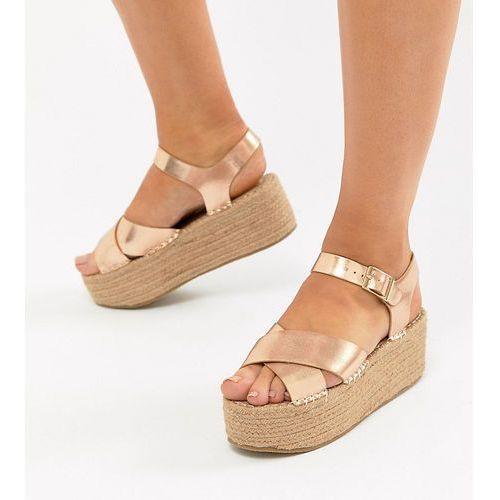 wide fit flatform sandals - copper marki Truffle collection