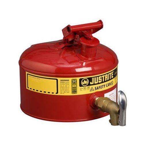 Justrite Bezpieczny pojemnik z kurkiem dozującym, blacha stalowa, lakierowanie na kolor c