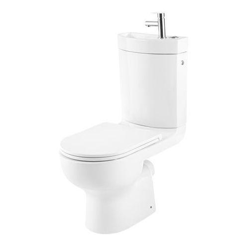 Goodhome Kompakt wc cavally bezkołnierzowy 3/6 l z umywalką i deską wolnoopadającą (3663602690580)