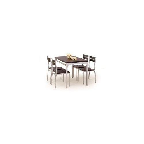Halmar Zestaw malcolm stół z 4 krzesłami