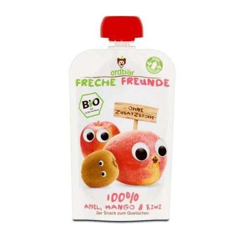 Mus do wyciskania jabłko-mango-kiwi 100g eko erdbar dla dzieci marki 208erdbar