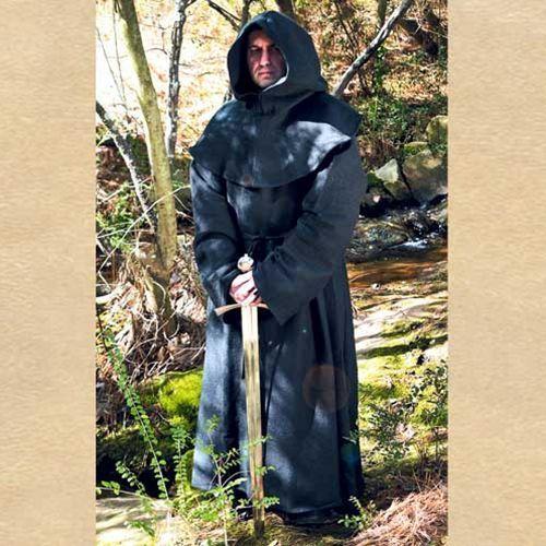 Płatnerze Szata mnicha z kapturem czarna (ws100298)