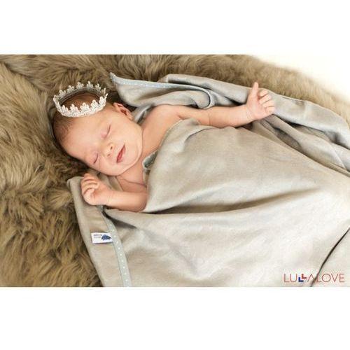 SupeRRO newborn gray - szary kocyk/otulacz bambusowy 70x70 - LullaLove, 5903240348053