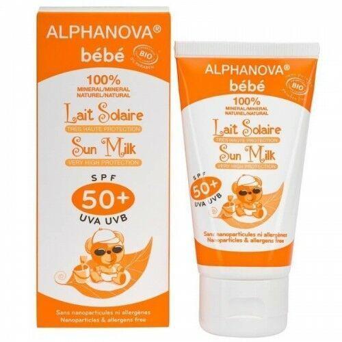 Naturalny przeciwsłoneczny krem o wysokim filtrze spf 50+, marki Alphanova bebe