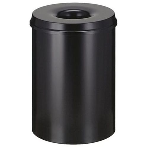 Bezpieczny kosz na papier, poj. 30 l, wys. 470 mm, grafitowo-czarny. korpus z bl marki Vepa bins