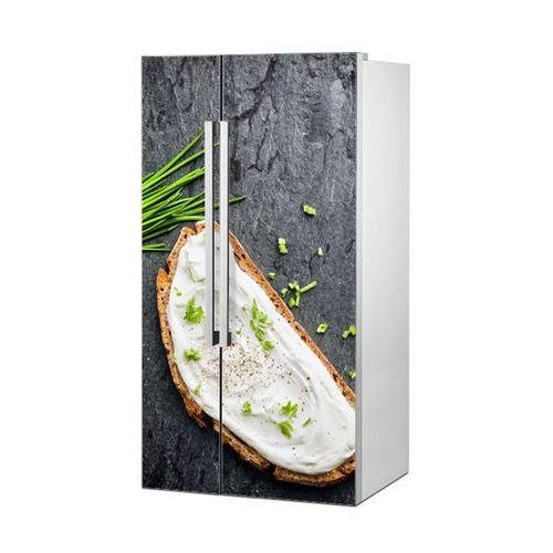 Mata magnetyczna na lodówkę side by side - kanapka ze szczypiorkiem 4968 marki Stikero