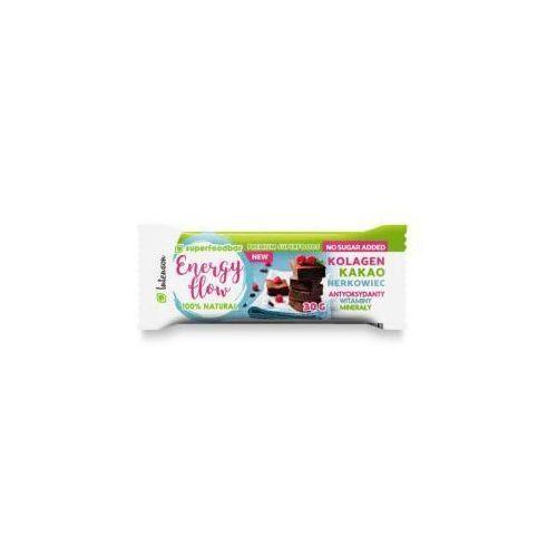 Baton orzechowo - owocowy z kakao, orzechami nerkowca i kolagenem Energy Flow 30 g Intenson, bef_30g