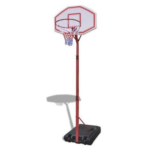 vidaXL Obręcz do gry w koszykówkę z regulowaną tablicą, oraz stojakiem (8718475873426)