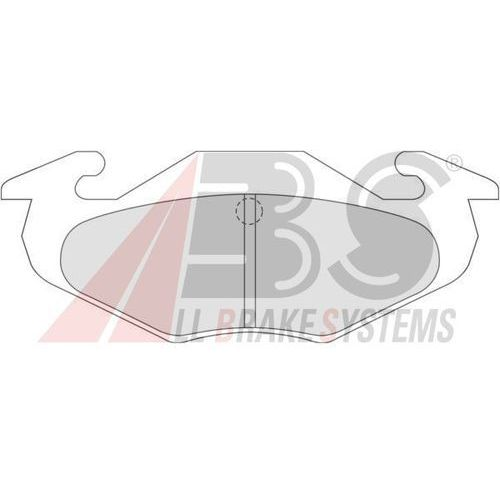 A.B.S. - Zestaw klocków hamulcowych, hamulce tarczowe (8717109052886)