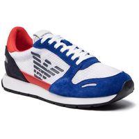 Sneakersy EMPORIO ARMANI - X4X215 XL693 P030 Pr.Blue/White/Lava, kolor wielokolorowy