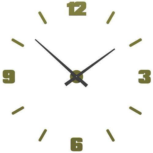 Zegar ścienny Michelangelo duży CalleaDesign oliwkowy-zielony (10-306-54), kolor zielony