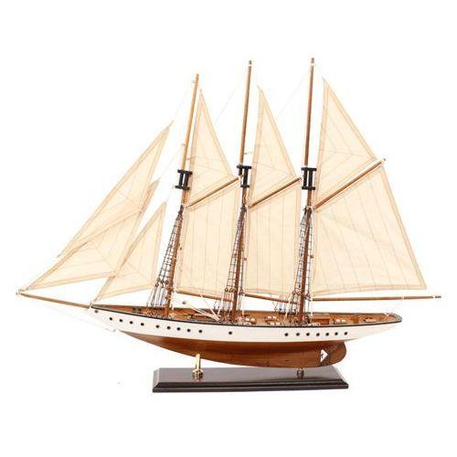 Nauticdecor Żaglowiec replika jacht model okręt statek łódź rochelle 73x12x56 cm