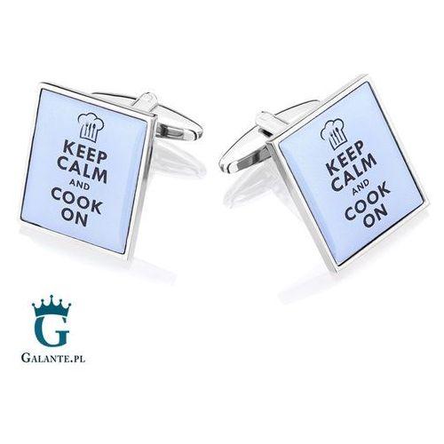 Spinki do mankietów Keep Calm and Cook dla kucharza SD-1547