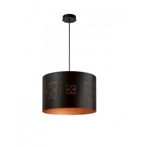 Lampa wisząca moduł okna l zwis czarny miedziany czarno e27 1 x 60w marki Sigma