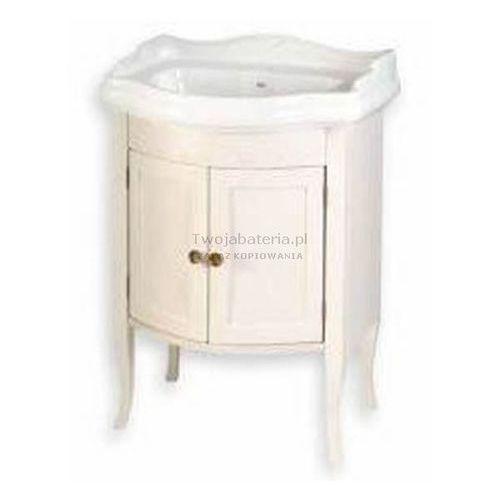 retro szafka z drzwiczkami pod umywalkę 69 cm postarzana biel 1684 marki Sapho