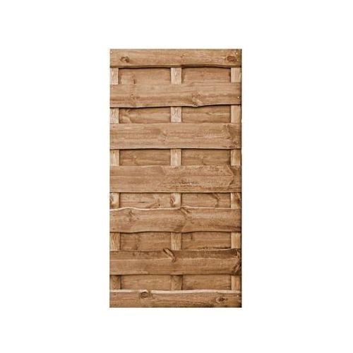 Werth-holz Płot szczelny 90x180 cm drewniany olcha nevada