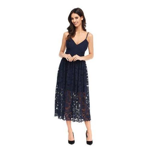 Sukienka Cadenza w kolorze granatowym, kolor niebieski