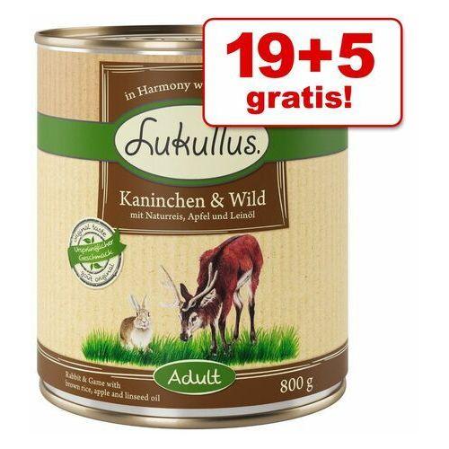 19 + 5 gratis! Megapakiet Lukullus Natural, 24 x 800 g - Mieszany pakiet IV