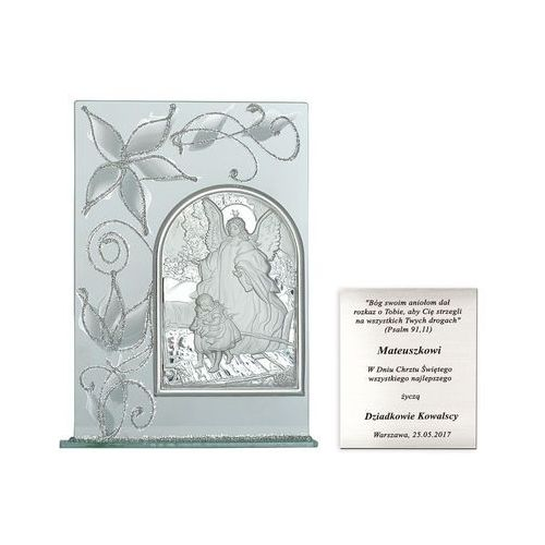 Obrazek anioł stróż prezent na chrzciny grawer pr258 marki Murrano