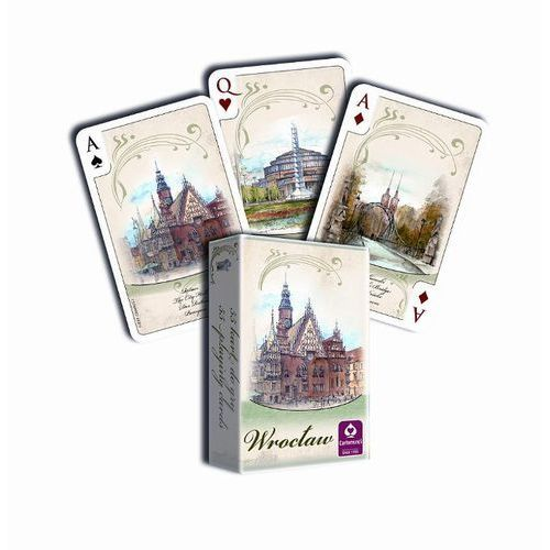 karty wrocław akwarele 55 l. marki Cartamundi
