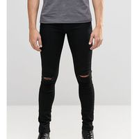 Brooklyn Supply Co Black Hunter Spray On Denim Jeans With Knee Slit - Black, jeans