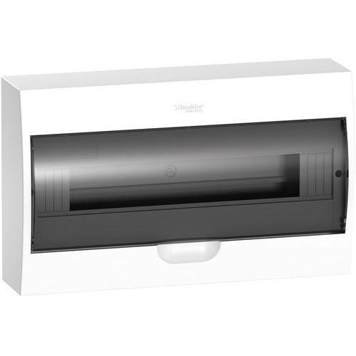 Rozdzielnica modułowa 1x18 natynkowa IP40 drzwi transparentne Easy9 EZ9E118S2S Schneider, EASY9 1X18 NT