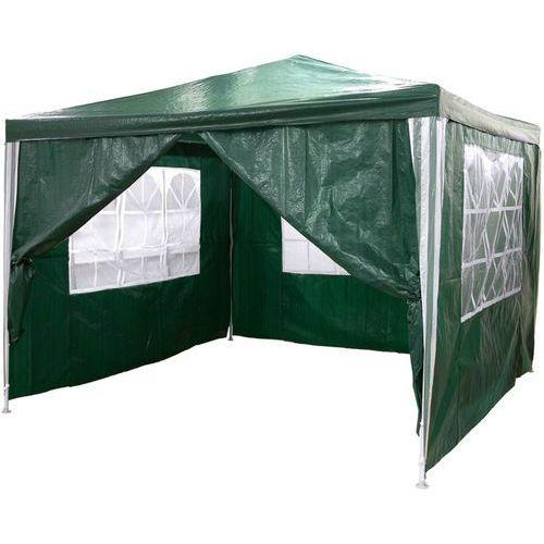 Zielony pawilon ogrodowy 3x3 + 4 ścianki namiot handlowy - zielony marki Makstor.pl