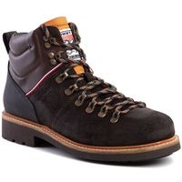 Trapery TOMMY HILFIGER - Suede Material Mix Hiking Boot FM0FM02589 Chocolate HJT, kolor brązowy