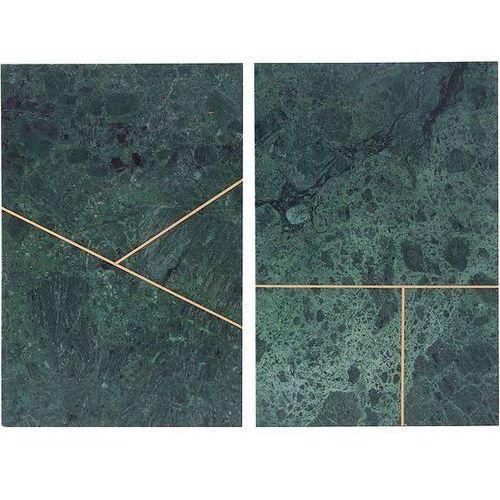 Talerz marmurowy Marble 2 szt. zielone, sa0620