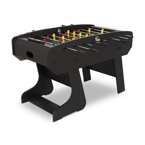 Klarfit San Siro Stół do gry w piłkarzyki składany wymiary turniejowe czarny