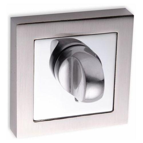 Szyld drzwiowy Kuchinox krótki kwadratowy WC satyna/chrom (5907791139627)