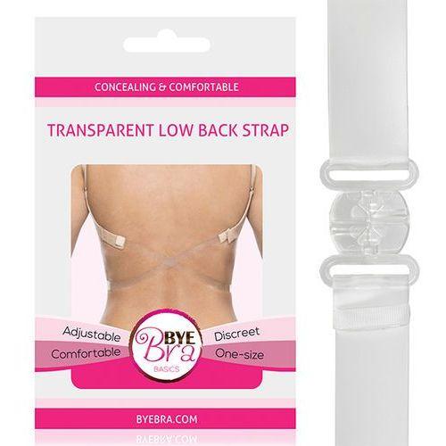 Przezroczyste ramiączko krzyżak - Bye Bra Transparent Low Back Strap Clear ByeBra (8718801012970)