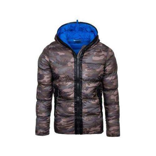 Kurtka męska zimowa sportowa moro-niebieska Denley ak128