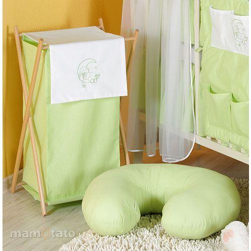 kosz na bieliznę miś na księżycu w zieleni marki Mamo-tato