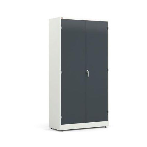 Array Metalowa szafa korpus: biały drzwi: szary