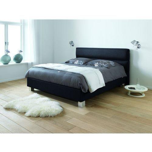 harmonia - tapicerowane łóżko (skóra naturalna) z pojemnikiem 160x200 cm marki Dlaspania