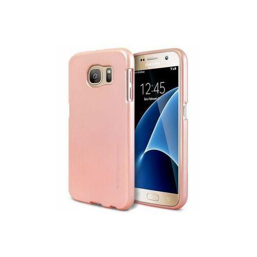 Futerał i-Jelly Mercury - SAM Galaxy J3 (2017) złoty róż, kolor różowy