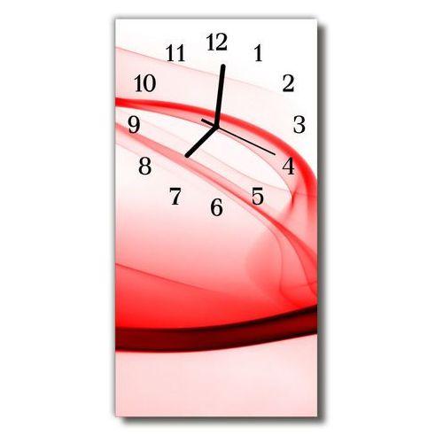 Zegar Szklany Pionowy Sztuka Fala linie czerwony