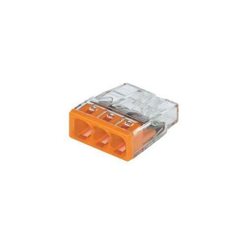 Złącze do puszki podtynkowej 2273-203/VE00-100 Ilość PIN: 3 WAGO 2273-203 30 szt. Przezroczysty, Pomarańczowy, 2273-203/0996-0030/VE00-0100