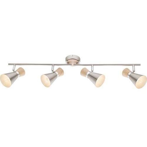 Listwa Globo Aeron 54807-4 lampa sufitowa spot 4x25W E14 nikiel mat / brązowy (9007371368884)