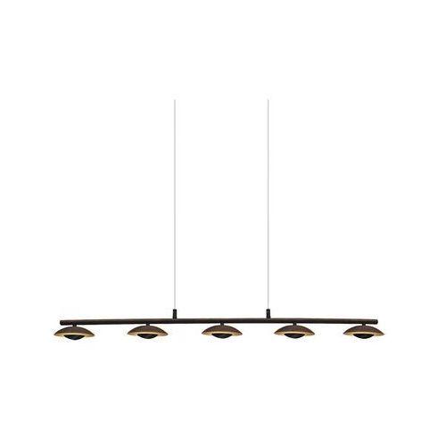 Rabalux Lampa wisząca brigitte 2555 5x5w led brązowa/złota (5998250325552)