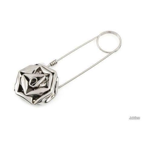 Jubileo.pl Broszka róża wykonana ręcznie kwiaty róża rośliny agrafka