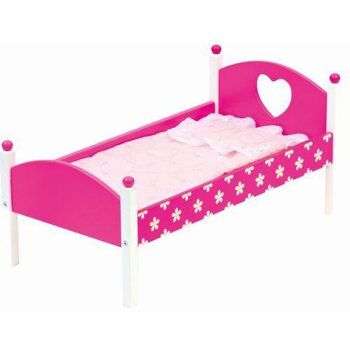 łóżeczko dla lalki z pościelą wyprodukowany przez Bino